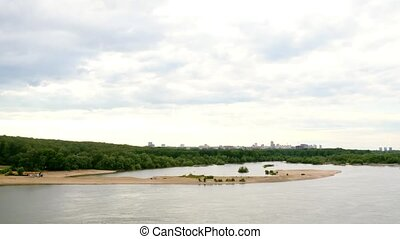 beautiful view of Ob River in Novosibirsk 1920x1080 -...