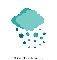 Hail icon, flat style - Hail icon in flat style isolated on...
