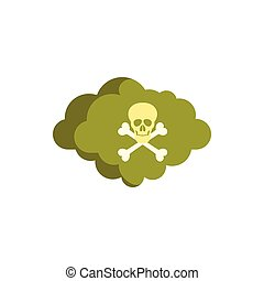 Deadly air icon, flat style - Deadly air icon in flat style...