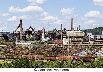 Panorama of Volklingen Ironworks in Saar, Germany