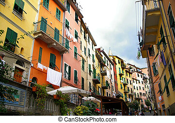 village of rio maggiore in cinque terre region of Italy