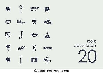 Set of stomatology icons - stomatology vector set of modern...