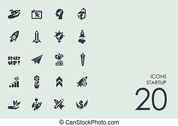 Set of startup icons - startup vector set of modern simple...