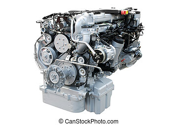 heavy truck power engine isolated