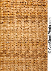 Texture high resolution of brown color of woven basket. Close up. Vertical format.