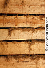 Texture high resolution of brown color of horizontal boards with rags. Vertical format.