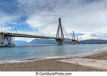 bridge between Rio and Antirrio - The cable bridge between...