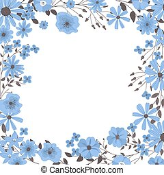 Frame made of hand drawn flowers