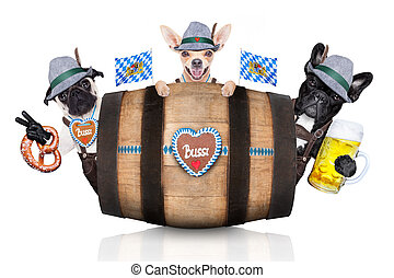 group of bavarian beer dogs - group or team of bavarian...