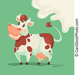 Happy cow character