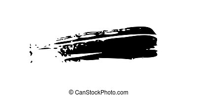 Spot ink brush, black on white background - Grunge Brush...