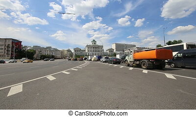 Daily traffic, Moscow - Daily traffic on the streets in the...