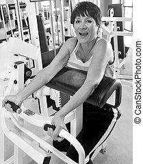 Female working out.