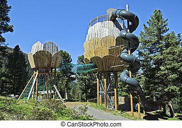 Austria, Tyrol - Austria, Tirol, preferred playground and...