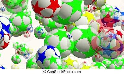 Flying,rotating soccer balls in var