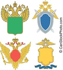 Russia emblematic and heraldic templates. Set of vector...