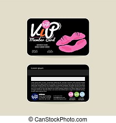 VIP Beauty Member Card Template - Front And Back VIP Beauty...