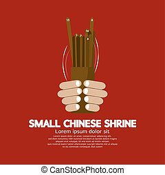 Cast Lots Fortune Of Chinese Vector Illustration