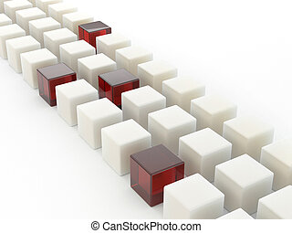 Row of cubes