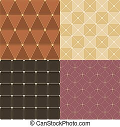 Set Of Vintage Pattern Background