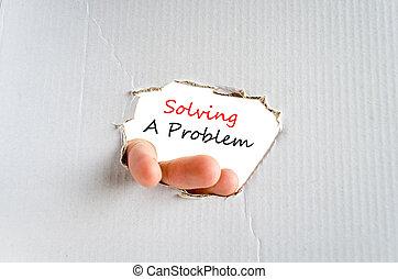 Solving a problem text concept