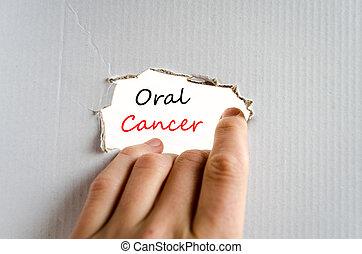 oral, câncer, texto, conceito