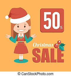 Christmas discount , sale holiday banner - Christmas...