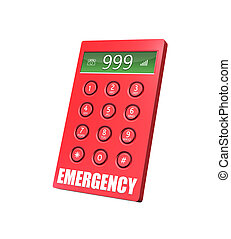 Emergency Phone - 3d render of an emergency keypad with...
