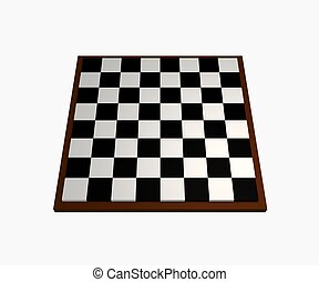 Chess board - Illustrated chess board on a white background