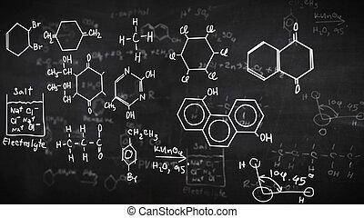 químico,  fórmulas, negro