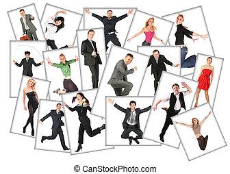 gente, Muchos,  collage, fotos