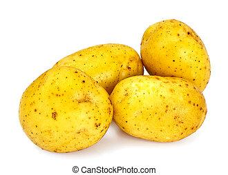 Potato Sweet Batata Isolated on White Background Studio...