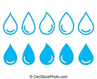 linear set water drops