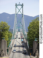 Lion Gates Bridge - The entrance to Lion Gates Bridge in the...