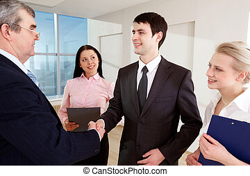 Making agreement - Photo of successful business partners...