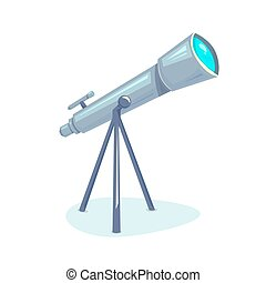 Telescope, vector illustration - Telescope, astronomers...