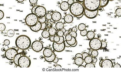 Flying stopwatches,chronometers and inscription Time concept...