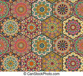 Tiles Pattern from Colorful Hexagon