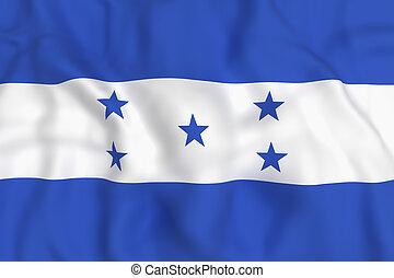 ondulación, bandera,  honduras