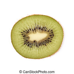 Ripe kiwi fruit isolated