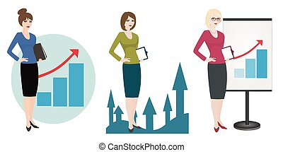 Illustration of a qualified Manager on white background -...