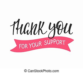 Thank you Family Positive quote lettering - Thank you...