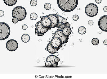 Time Question Concept - Time questions concept as a group of...