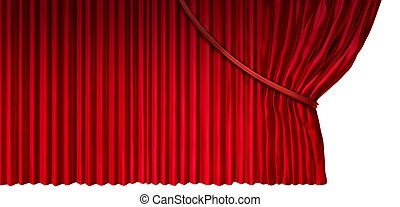Curtain Reveal - Curtain reveal as cinema or theater drapes...