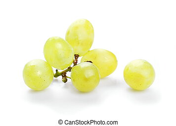 grapes isolated on white