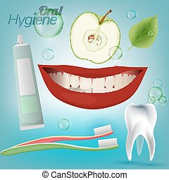 Teeth Hygiene 01 A - Best friends of healthy tooth Oral...