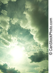 Dramatic Sky - A dramatic Sky and moody clouds background.