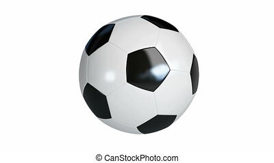 football, soccer ball spinning on its axis