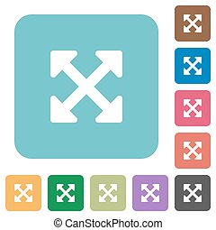 Flat resize full alt icons on rounded square color...