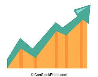 Arrow pointing upwards vector illustration.